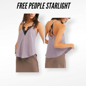 Free People Starlight Camis In SILVER MAUVE